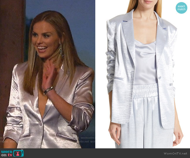 Kylie Jacket by Cinq a Sept worn by Hannah Brown  on The Bachelorette