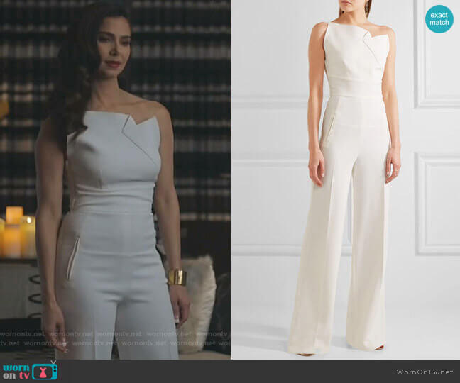 Colston Jumpsuit by Roland Mouret worn by Gigi Mendoza (Roselyn Sánchez) on Grand Hotel