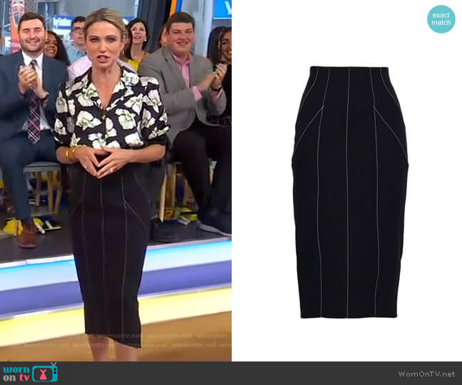 Ali Skirt by Cinq a Sept worn by Amy Robach  on Good Morning America