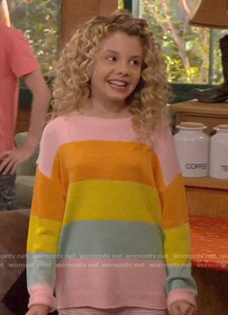 Destiny's striped sweater on Bunkd