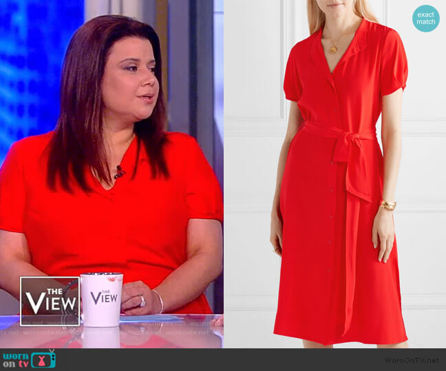 Addilyn silk crepe de chine dress by Diane von Furstenberg worn by Ana Navarro  on The View
