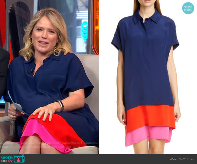 Hatsu Dress by Diane von Furstenberg worn by Sara Haines  on Good Morning America