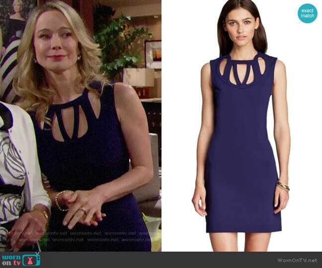 Diane von Furstenberg Amy Cutout Dress worn by Donna Logan (Jennifer Gareis) on The Bold & the Beautiful