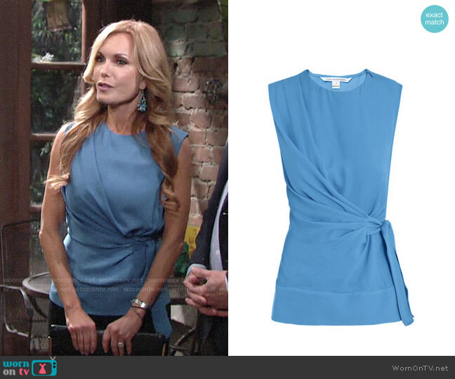 Diane von Furstenberg Grandie Top worn by Lauren Fenmore (Tracey Bregman) on The Young & the Restless