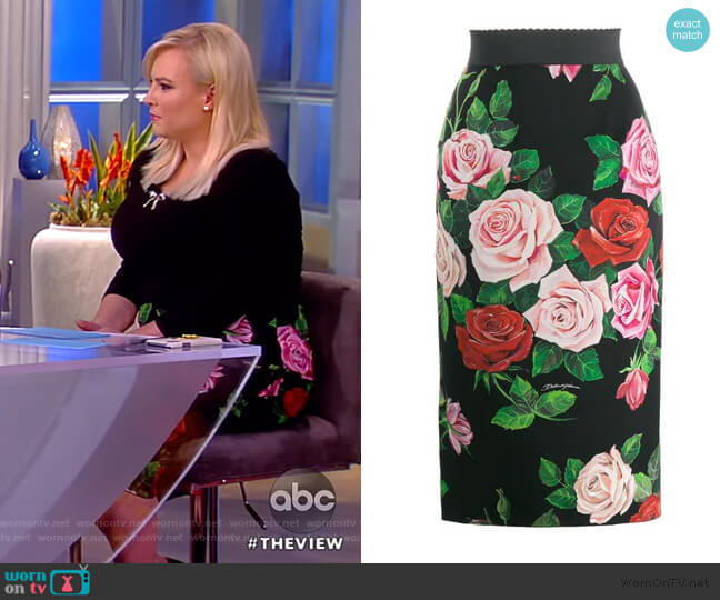 Floral Print Skirt by Dolce & Gabbana worn by Meghan McCain  on The View