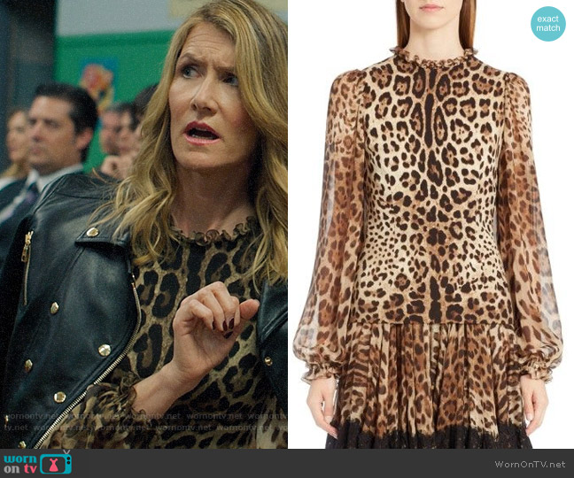 Dolce & Gabbana Print Stretch Cady Blouse worn by Renata Klein (Laura Dern) on Big Little Lies