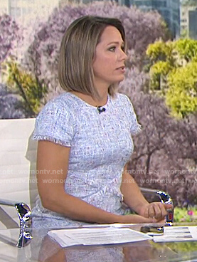 Dylan's white tweed dress on Today