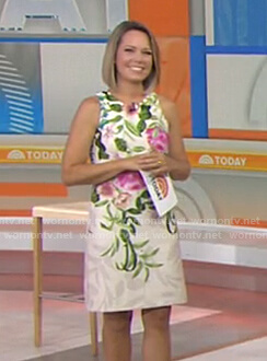 Dylan's white floral sleeveless dress on Today