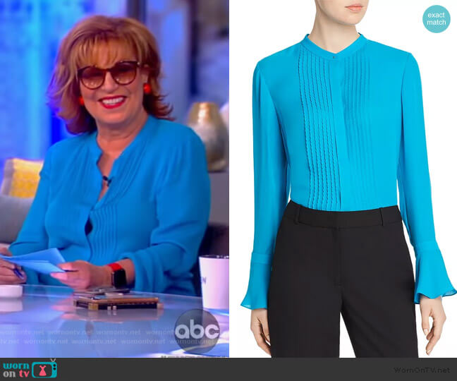 Paige Pintucked Blouse by Elie Tahari worn by Joy Behar  on The View
