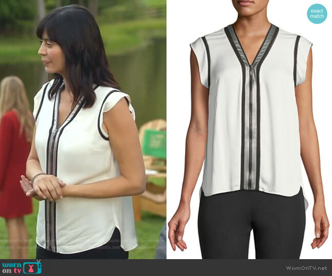 Vallie Blouse by Elie Tahari worn by Cassandra Nightingale (Catherine Bell) on Good Witch