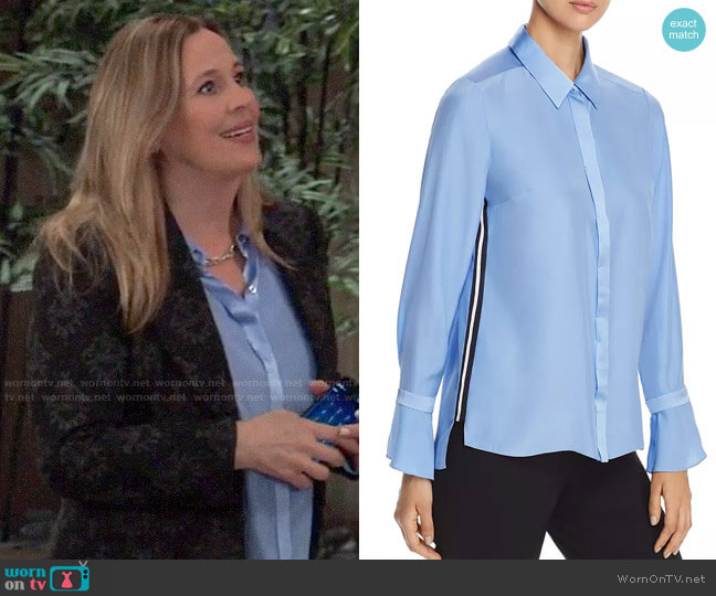 Elie Tahari Heather Blouse worn by Laura Collins (Genie Francis) on General Hospital