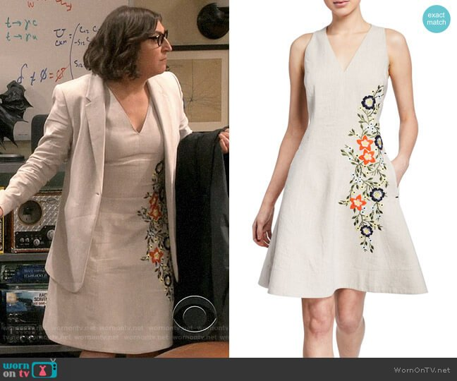 Elie Tahari Londa Dress worn by Amy Farrah Fowler (Mayim Bialik) on The Big Bang Theory
