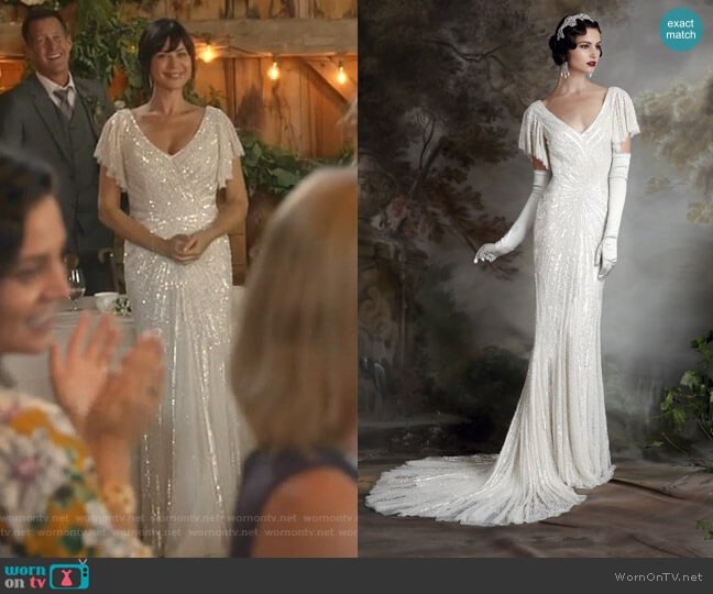 Sibella Dress - Debutante 2015 Collection by Eliza Jane Howell worn by Cassandra Nightingale (Catherine Bell) on Good Witch