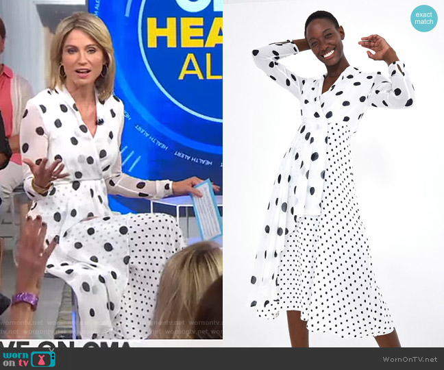 Onca Dot Dress by Farm Rio worn by Amy Robach  on Good Morning America