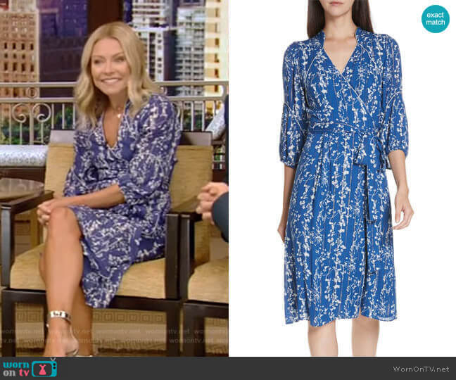 Folia Dress by ba&sh worn by Kelly Ripa  on Live with Kelly & Ryan
