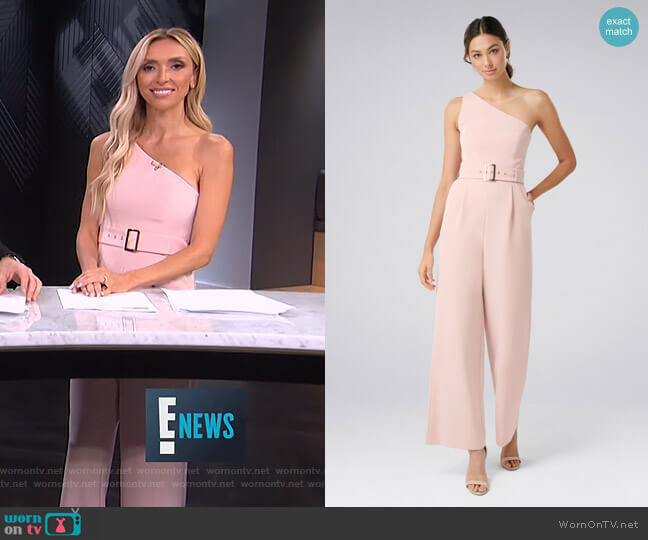 Bonnie One Shoulder Jumpsuit by Forever New worn by Giuliana Rancic  on E! News