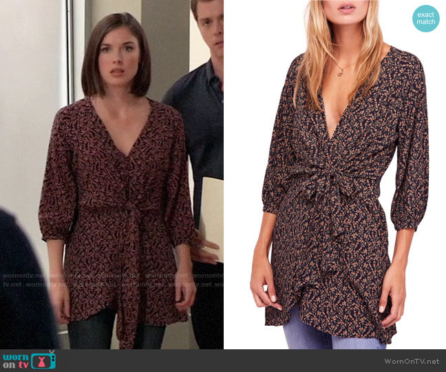 Free People Clara Tunic worn by Willow Tait (Katelyn MacMullen) on General Hospital