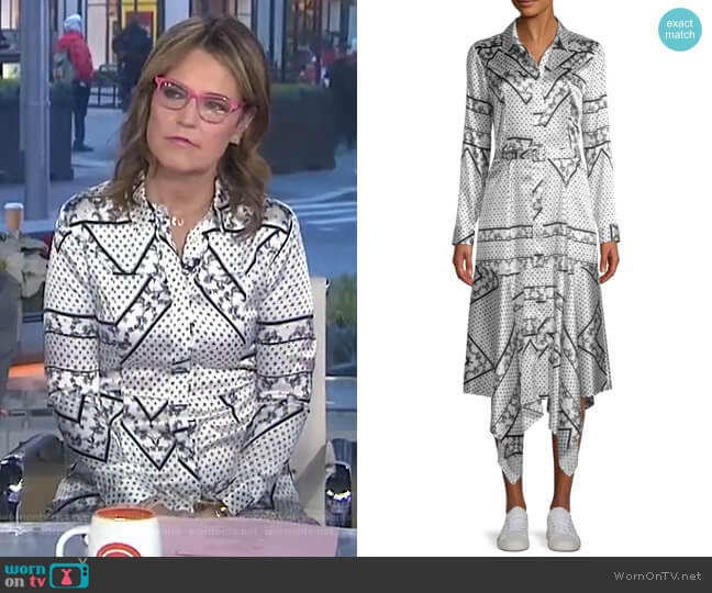 Blakely Scarf-Print Silk Dress by Ganni worn by Savannah Guthrie  on Today