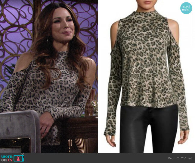 Generation Love Lena Leopard Cashmere Top worn by Riza on The Young and the Restless