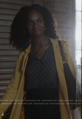 Angela's yellow trench coat on What/If