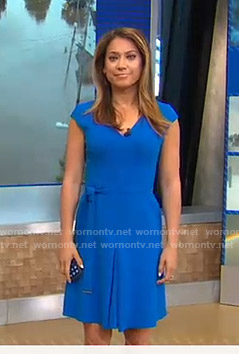 Ginger's blue belted dress on Good Morning America