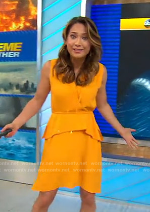Ginger's orange sleeveless dress on Good Morning America