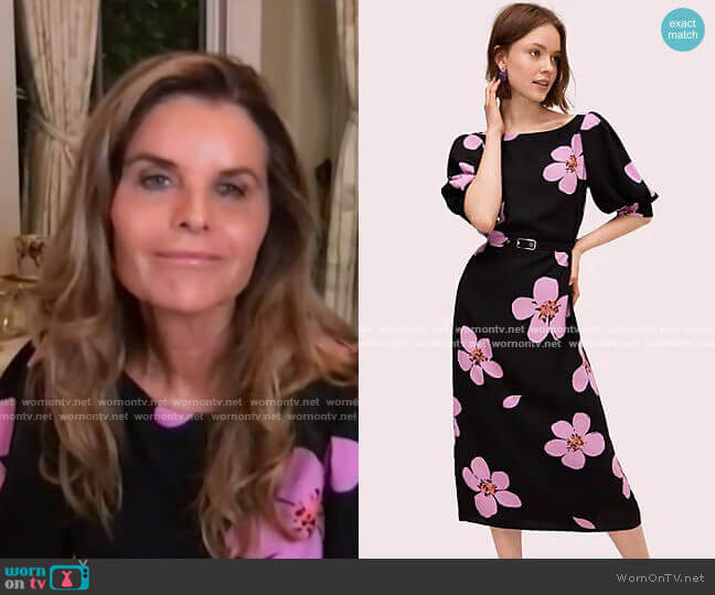 Grand Flora Button Back Dress by Kate Spade worn by Maria Shriver  on Today