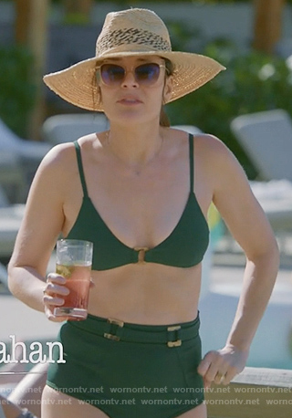 Heather's green ring embellished bikini on Life in Pieces