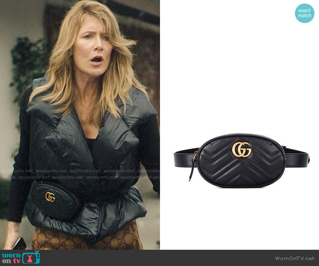 Gucci GG Marmont 2.0 Matelassé Leather Belt Bag worn by Renata Klein (Laura Dern) on Big Little Lies