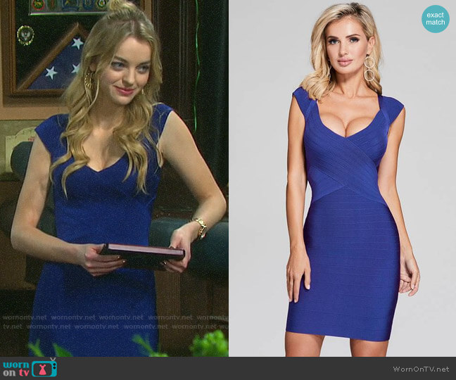 Guess Celesse Bandage Dress worn by Claire Brady (Olivia Keegan) on Days of our Lives