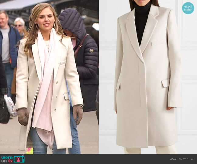 Wool Coat by Helmut Lang worn by Hannah Brown  on The Bachelorette