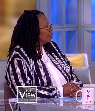 Whoopi's striped long tunic on The View