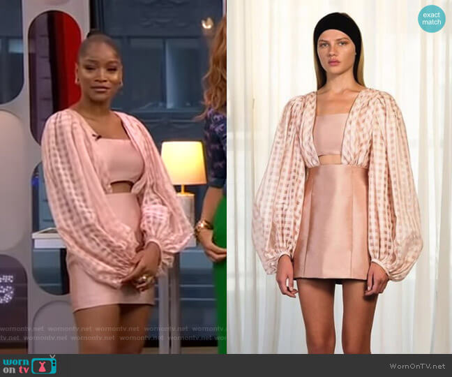 SS19 Collection by Kalmanovich worn by Keke Palmer  on Good Morning America