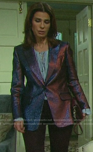 Hope's purple metallic blazer on Days of our Lives
