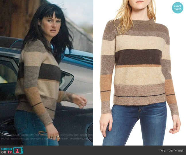 James Perse Stripe Sweater worn by Jane Chapman (Shailene Woodley) on Big Little Lies