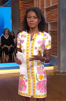 Janai's white floral dress on Good Morning America