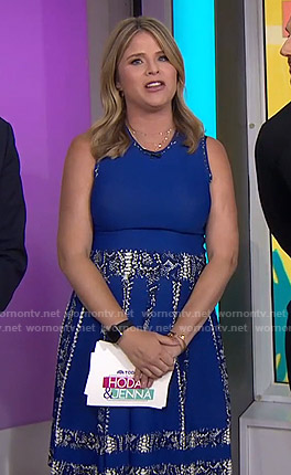Jenna's blue snake print dress on Today
