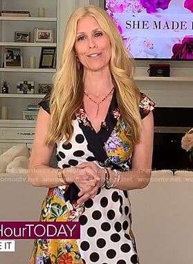 Jill's patchwork wrap dress on Today