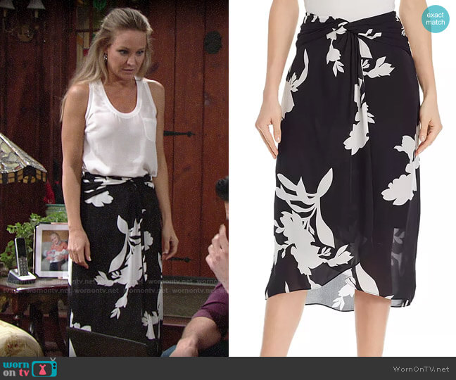 Joie Arlissa Skirt worn by Sharon Collins (Sharon Case) on The Young & the Restless