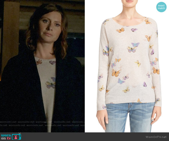 Joie Eloisa Butterfly Sweater worn by Peyton Charles (Aly Michalka) on iZombie