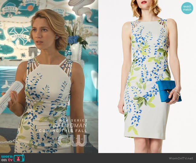 Floral Strappy Midi Dress by Karen Millen worn by Petra Solano (Yael Grobglas) on Jane the Virgin