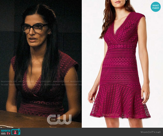 Karen Millen Lace Peplum Dress worn by Krishna (Shelly Bhalla) on Jane the Virgin