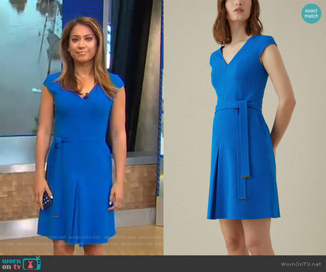 Waist-Detail Dress by Karen Millen worn by Ginger Zee  on Good Morning America