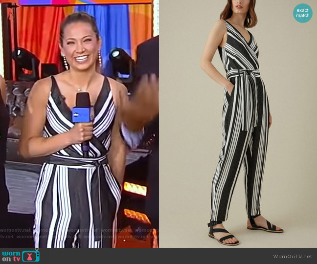 Linen Jumpsuit by Karen Millen worn by Ginger Zee  on Good Morning America
