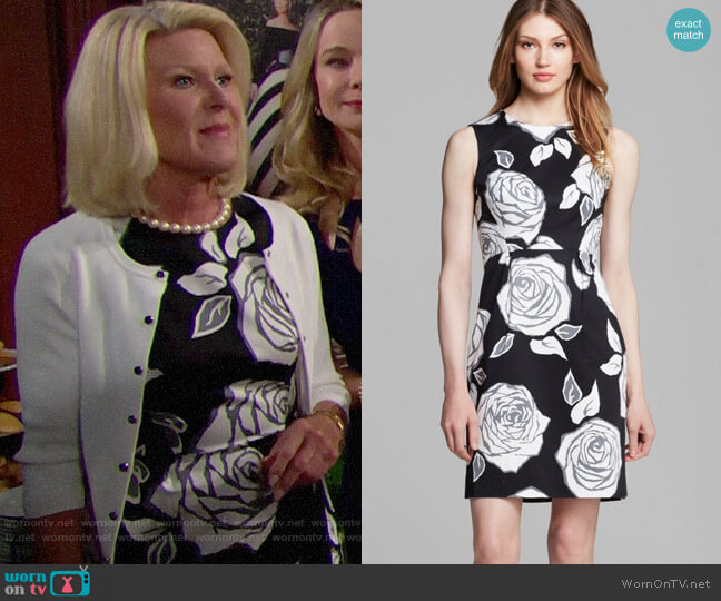 Kate Spade Aires Rose Abby Dress worn by Pamela Douglas (Alley Mills) on The Bold & the Beautiful