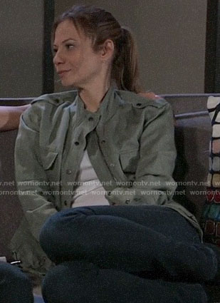 Kim's army jacket on General Hospital