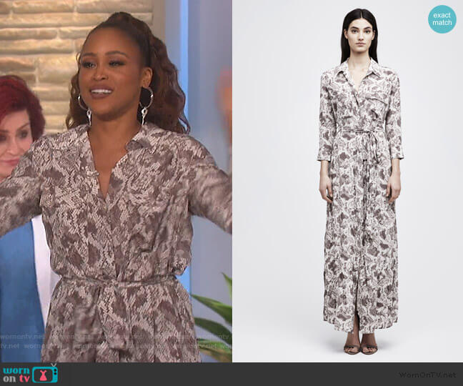 Cameron Shirtdress by L'Agence worn by Eve  on The Talk