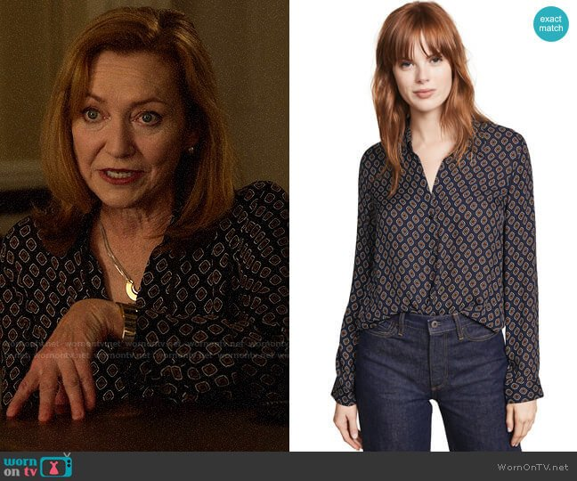 L'Agence Nina Blouse worn by Lorraine Zimmer (Julie White) on Designated Survivor