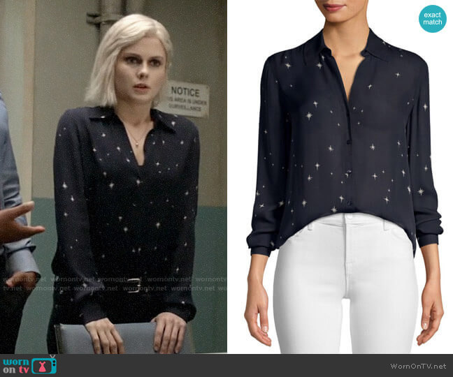 L'Agence Nina Star Print Blouse worn by Liv Moore (Rose McIver) on iZombie