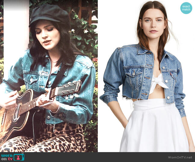 Levi's Cropped Trucker Jacket worn by Tessa Porter (Cait Fairbanks) on The Young & the Restless